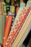Rolls of rugs Stock Photo