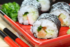 Rolls with salmon. Stock Images