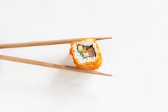 Rolls with salmon and avocado Royalty Free Stock Photos
