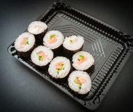 Rolls with salmon. Royalty Free Stock Image