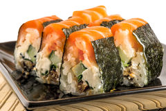 Rolls with salmon Stock Images