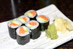 Rolls with salmon Stock Photo