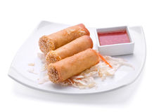 Rolls with sauce Royalty Free Stock Images