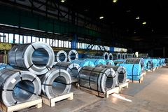 rolls sheet steel Royaltyfri Bild
