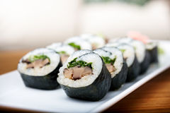 Rolls with shiitake mushrooms Stock Photography