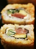 Rolls with shrimp, crab and avocado Stock Images