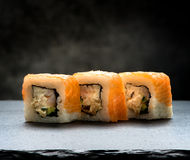 Rolls on slate table Royalty Free Stock Images