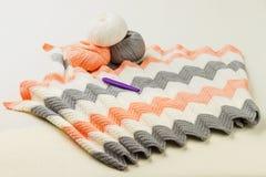 Rolls of soft knitting yarn, knitting, knitprowave Royalty Free Stock Photography