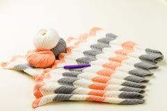 Rolls of soft knitting yarn, knitting, knitprowave Royalty Free Stock Images