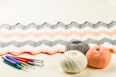 Rolls of soft knitting yarn, knitting, knitprowave Royalty Free Stock Photo