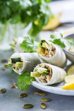 Rolls with sprouts Royalty Free Stock Images
