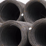 Rolls of steel cable. For use in construction Royalty Free Stock Image