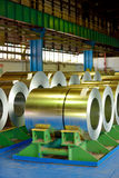 Rolls of steel plate Stock Photos