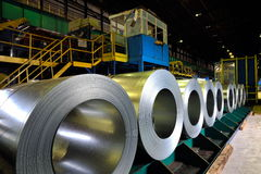 Rolls of steel sheet Royalty Free Stock Photos