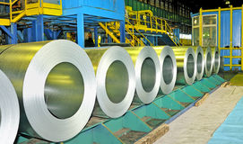 Rolls of steel sheet Stock Image