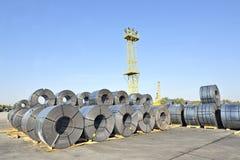 Rolls of steel sheet Stock Photography
