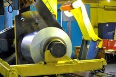 Rolls of steel sheet. Shoot inside of plant Royalty Free Stock Photo