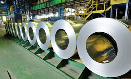 Rolls of steel sheet Royalty Free Stock Images