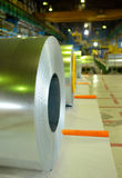 Rolls of steel sheet. Inside of plant Royalty Free Stock Image