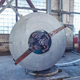 Rolls of steel sheet. In a plant Royalty Free Stock Photos