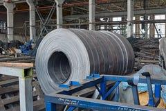 Rolls of steel sheet Royalty Free Stock Photos
