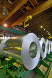 Rolls of steel sheet  in warehouse Royalty Free Stock Photo