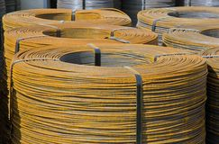 Rolls of steel wire Royalty Free Stock Image