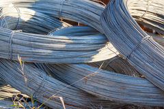 Rolls of steel wire Stock Photography
