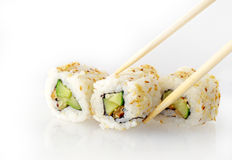 Rolls strewed with sesame Royalty Free Stock Photos