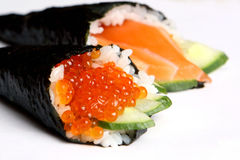 Rolls sushi. With caviar and fish Stock Images