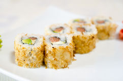 Rolls, sushi and ginger Stock Image