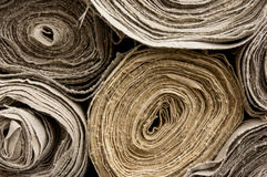 Rolls of textile Royalty Free Stock Photos