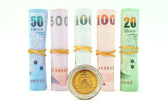 Rolls of Thai banknotes Royalty Free Stock Photography