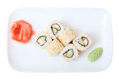 Rolls thay yaki on a plate Stock Photography