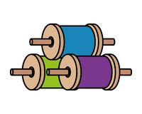 Rolls of thread for kite. Vector illustration design royalty free illustration