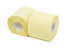 Rolls of toilet paper, isolated Stock Image