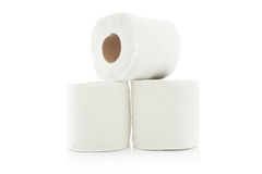 Rolls of toilet paper Stock Images