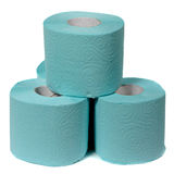 Rolls of toilet paper isolated on white background Royalty Free Stock Photos