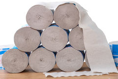 Rolls of toilet paper Royalty Free Stock Images