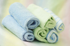 Rolls of towels royalty free stock image