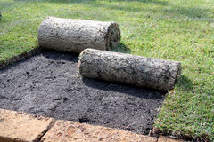 ROLLS OF TURF Royalty Free Stock Images