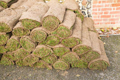 Rolls of turf Royalty Free Stock Photos