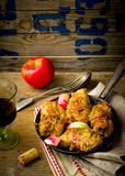 Rolls from a turkey with apples. Royalty Free Stock Image