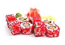 Rolls und Sushi Lizenzfreie Stockbilder