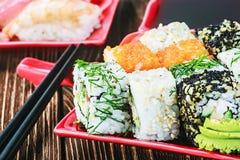 Rolls und Sushi Stockbilder