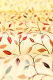Rolls of upholstery and curtain fabrics Stock Photo