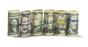Rolls of US Dollars Royalty Free Stock Photo