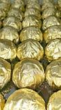 Rolls von goldenen Folien Stockbild