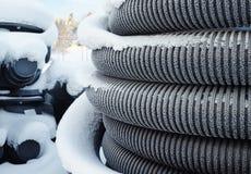 Rolls von Kunststoffrohren Lizenzfreies Stockbild