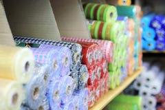 Rolls von Mesh Fabric Lizenzfreie Stockfotos